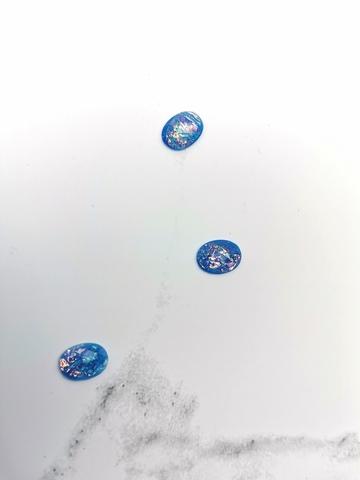 Камни искусственные перламутр голубой #26