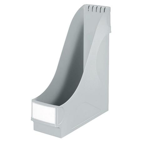 Вертикальный накопитель Leitz пластиковый серый ширина 95 мм