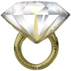 Шар Кольцо с бриллиантом (золотое) (90см)