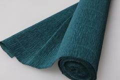 Бумага гофрированная простая темно-зеленая/темно-оливковая (560), 50 см/250 см