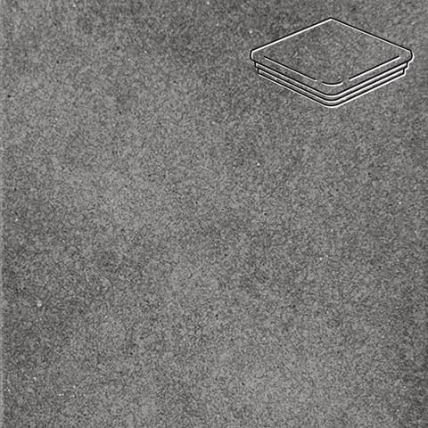 Interbau - Alpen, Anthrazit/Антрацит 310x325x9, цвет 058 - Ступень флорентийская угловая