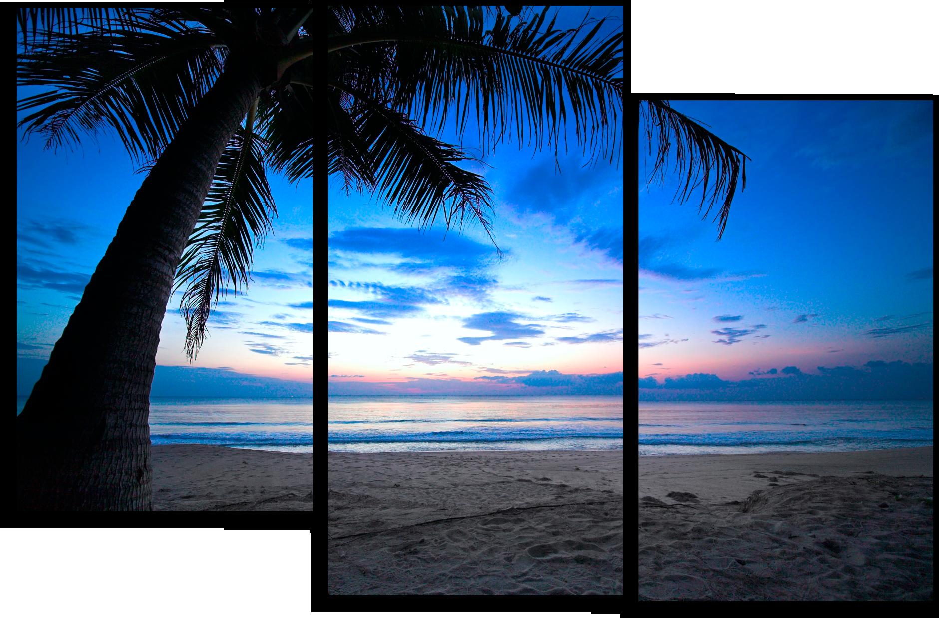 "Природа Модульная картина ""Пляж на Карибах"" М685.png"