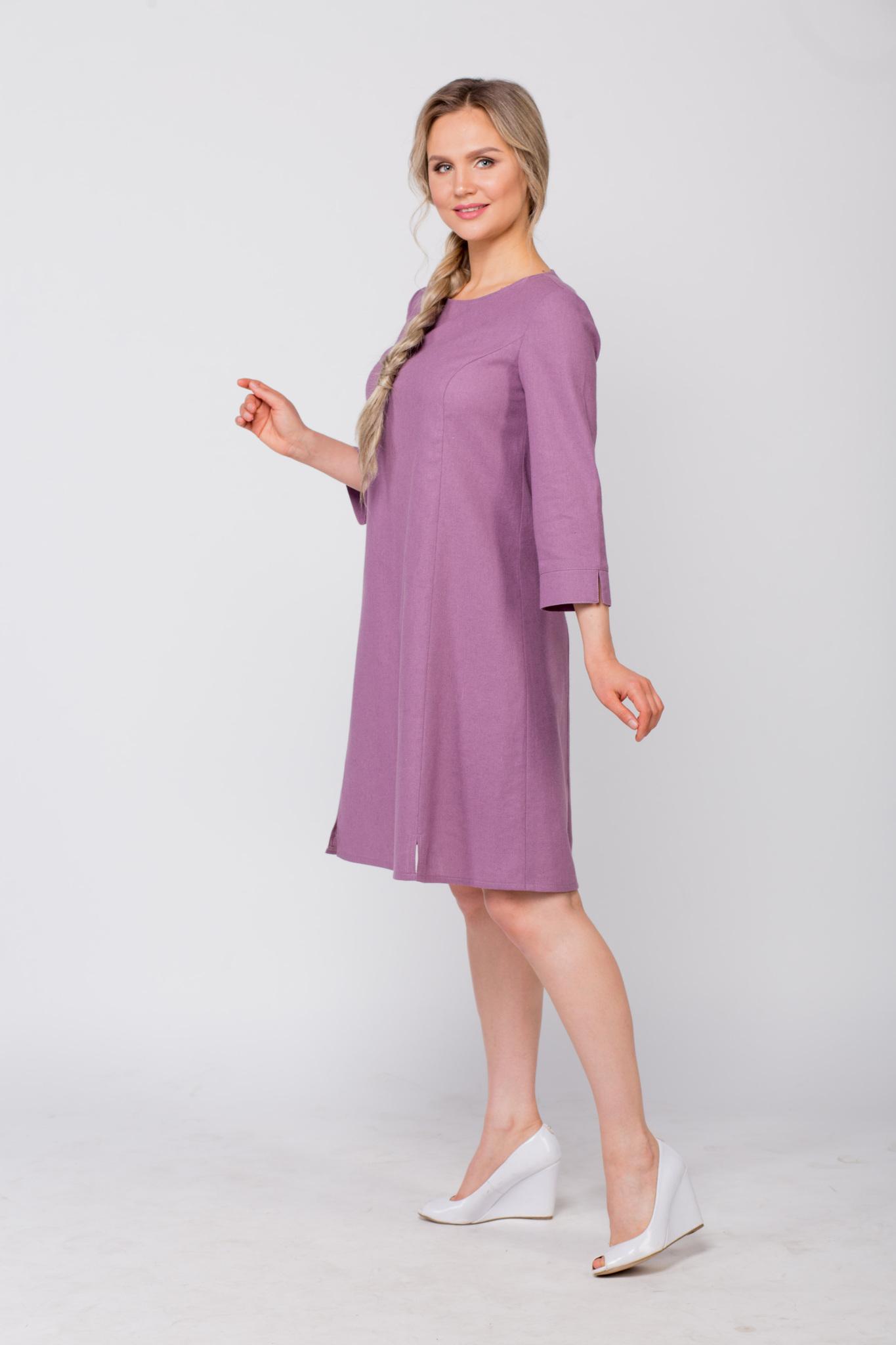Платье льняное Лаванда славянский магазин