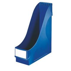 Вертикальный накопитель Leitz пластиковый синий ширина 95 мм