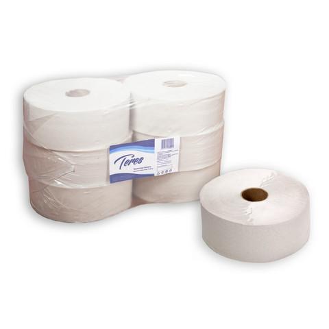 Бумага туалетная в рулонах Терес Эконом макси 1-слойная 6 рулонов по 480 метров (артикул производителя T-0014)