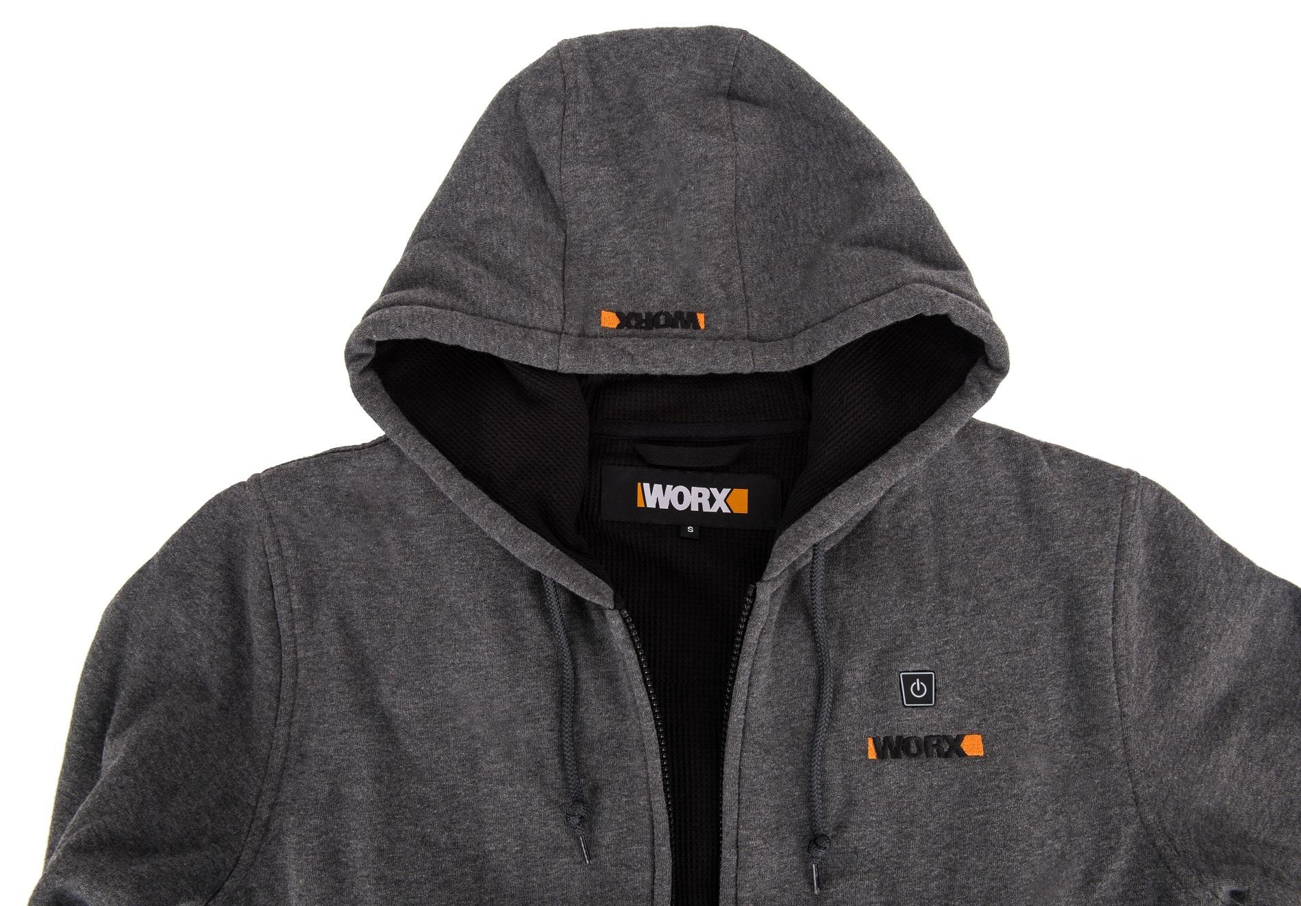Куртка с подогревом Worx WA4660 4XL темно-серая