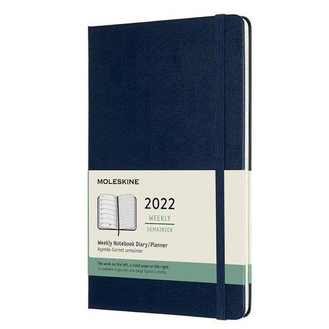 Еженедельник Moleskine (DHB2012WN3) Classic WKNT Large 130х210мм 144стр. синий сапфир
