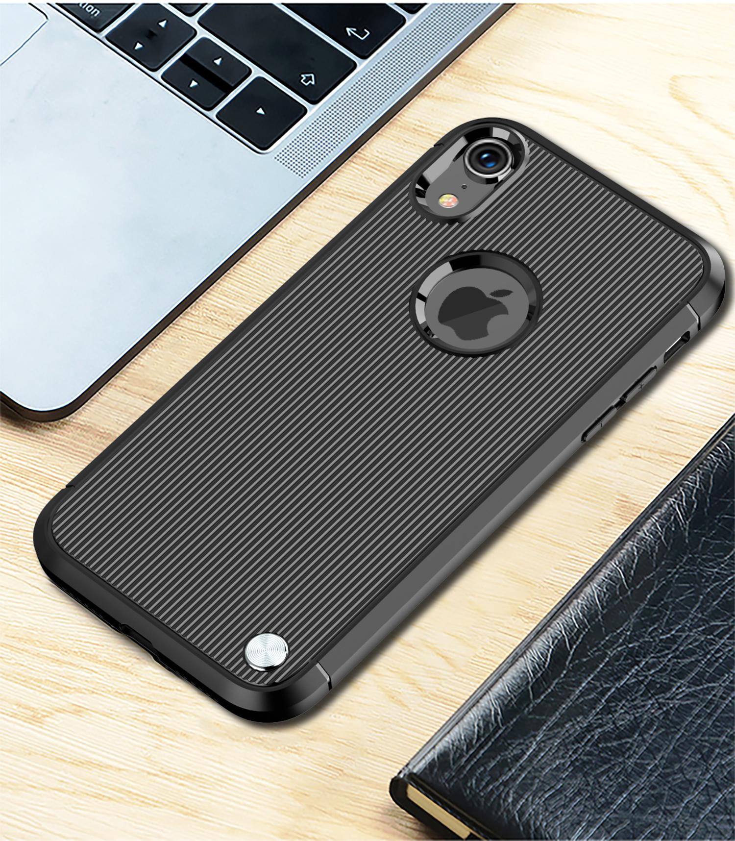 Чехол для iPhone XR цвет Black (черный), серия Bevel от Caseport