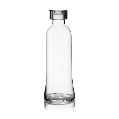 Бутылка для воды стеклянная, 1 л прозрачная