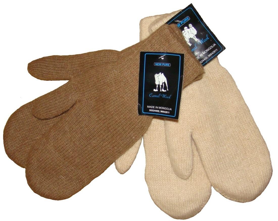 Варежки из шерсти верблюда фото3