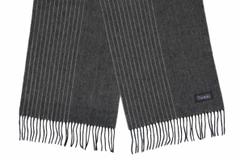 Шерстяной шарф темно-серый 31330