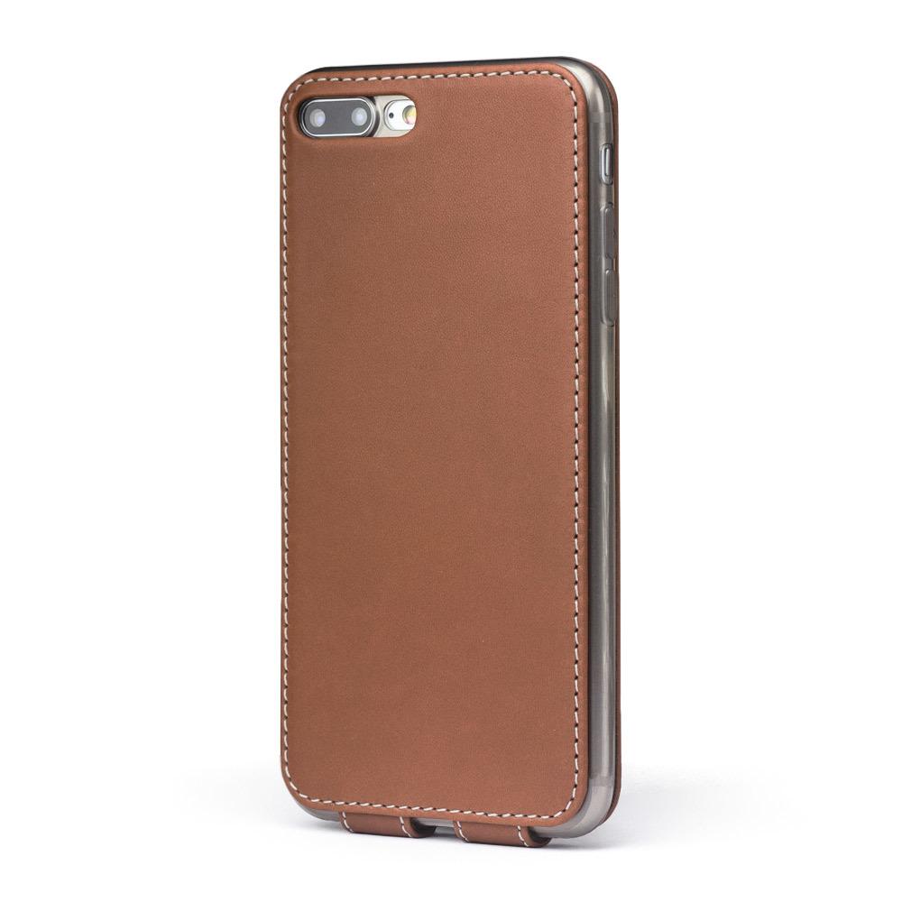 Чехол для iPhone 7 Plus из натуральной кожи теленка, коричневого цвета