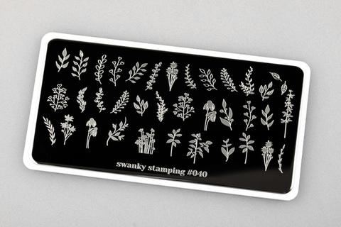 Пластина Swanky Stamping №40