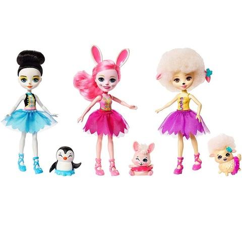 Набор из 3 кукол Балерины милашки. Энчантималс