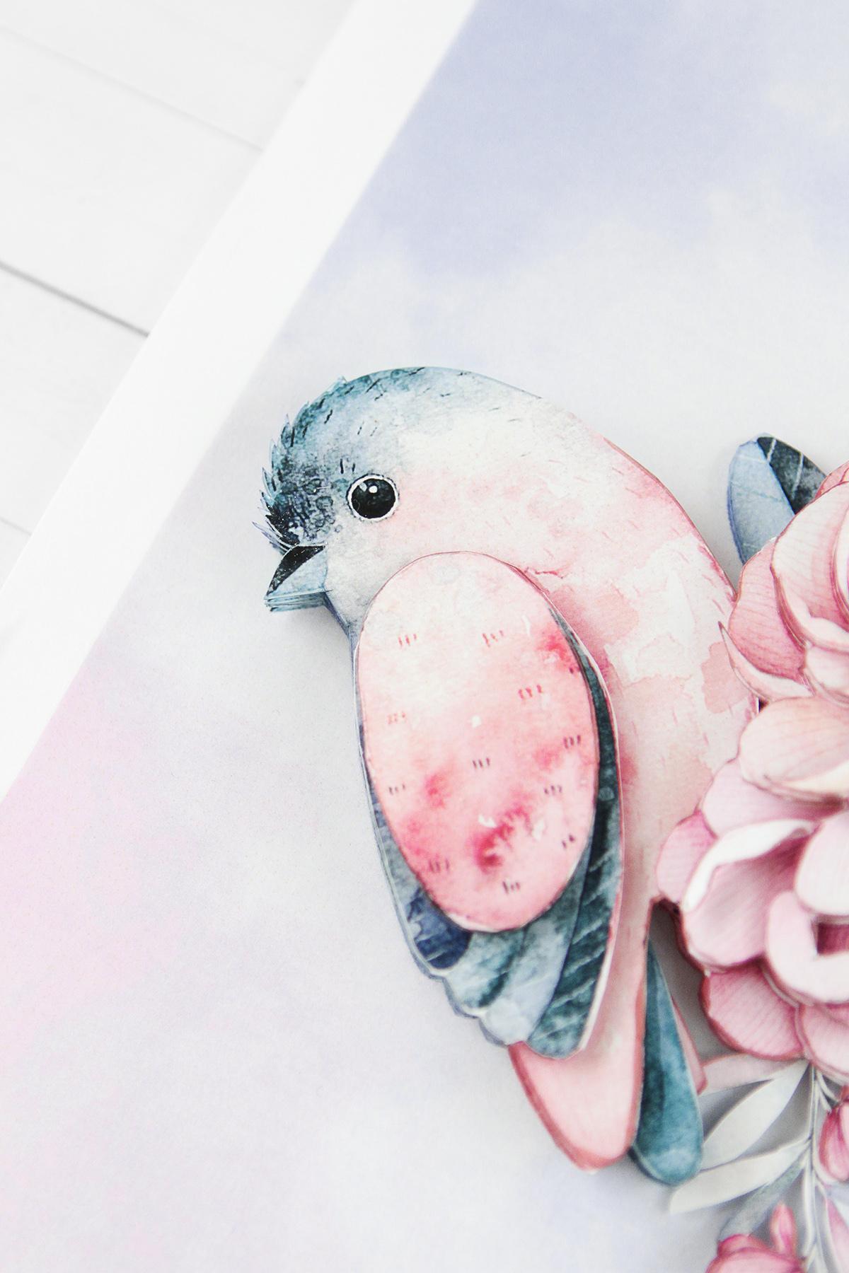Папертоль Птичка счастья - готовая работа, детали сюжета