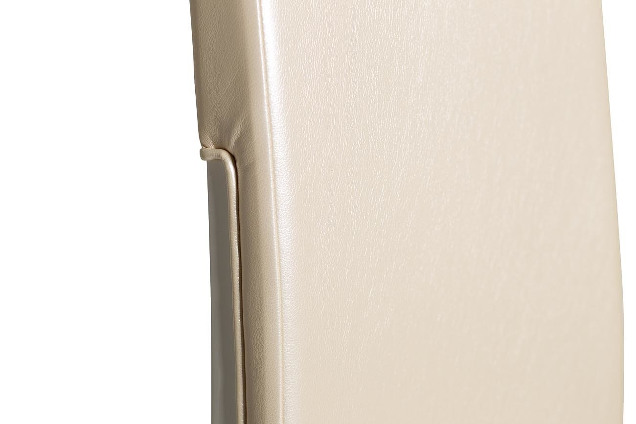 31PL-832CH Стул белый, бежевая экокожа 48,5*57,5*116см