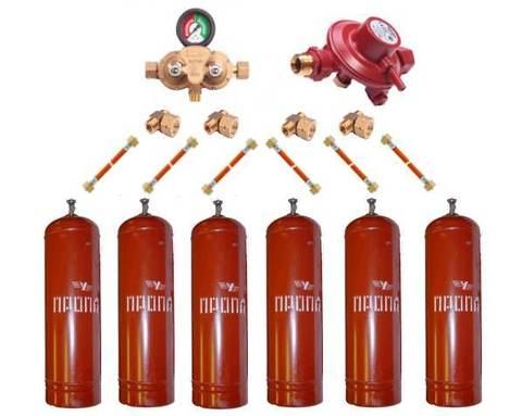 Газобаллонная система GOK (премиум) для подключения 6 металлических баллонов