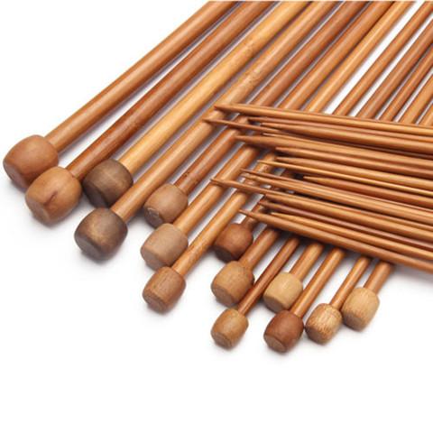 Спицы прямые бамбуковые 35-36 см