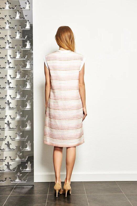 CAPPELLINI Платье из органзы в полоску