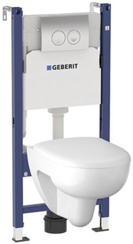 Geberit Renova 500.124.TC.R инсталляция с подвесным унитазом, сиденьем и кнопкой смыва (КОМПЛЕКТ)
