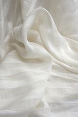 Льняная вуаль широкая, цвет сливочный