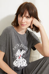 Нічна сорочка міді «101 далматинець» сірого кольору