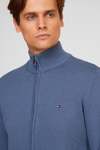 Мужская синяя кофта EXAGGERATED STRUCTURE Tommy Hilfiger