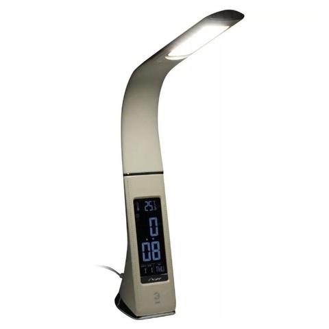 Светодиодная настольная лампа с часами ЭРА NLED-461-7W-BG бежевый