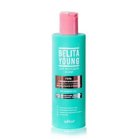 Гель с микрогранулами для умывания лица Оптимальное очищение , 200 мл ( Belita Young )