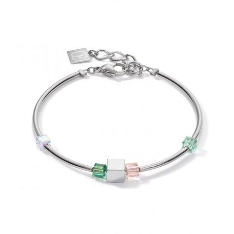 Браслет Green 5043/30-0500 цвет прозрачный, бежевый, зеленый, серебряный