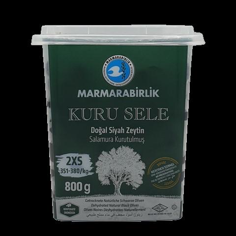 Маслины вяленые с косточкой без рассола (2XS) MARMARABIRLIK, 800 гр