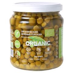 Горошек зеленый Organic Around Изысканный без добавления сахара, органический 450 г