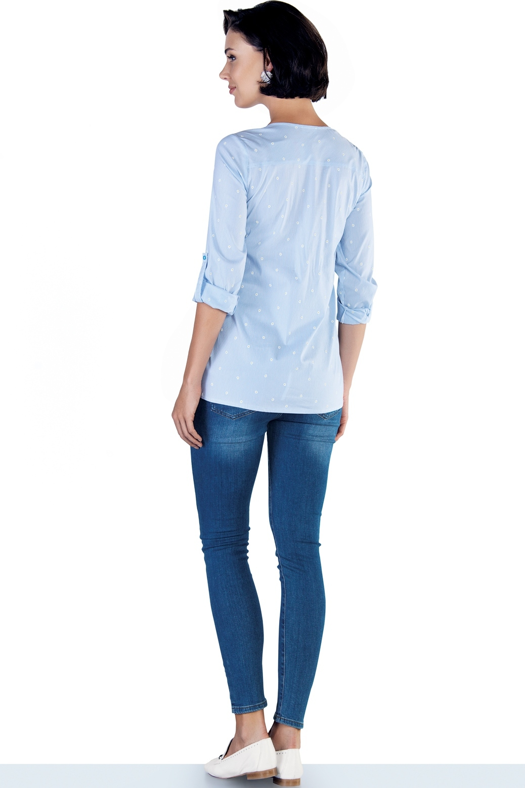 Фото укороченные джинсы-skinny для беременных EBRU, с эластичной вставкой от магазина СкороМама, синий, весна-лето, размеры.