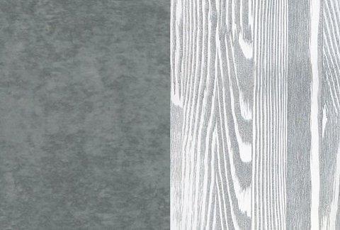 Ткань/Массив, Бентлей Серый космос/Белая эмаль с патиной серебро (браширование)