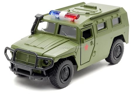 GAZ-2330 Tiger military khaki Technopark 1:43