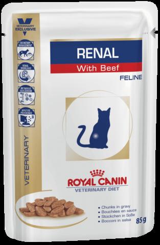 Royal Canin Renal с говядиной для кошек при ХПН