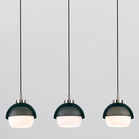 Подвесной светильник 50106/3 античная бронза/черный