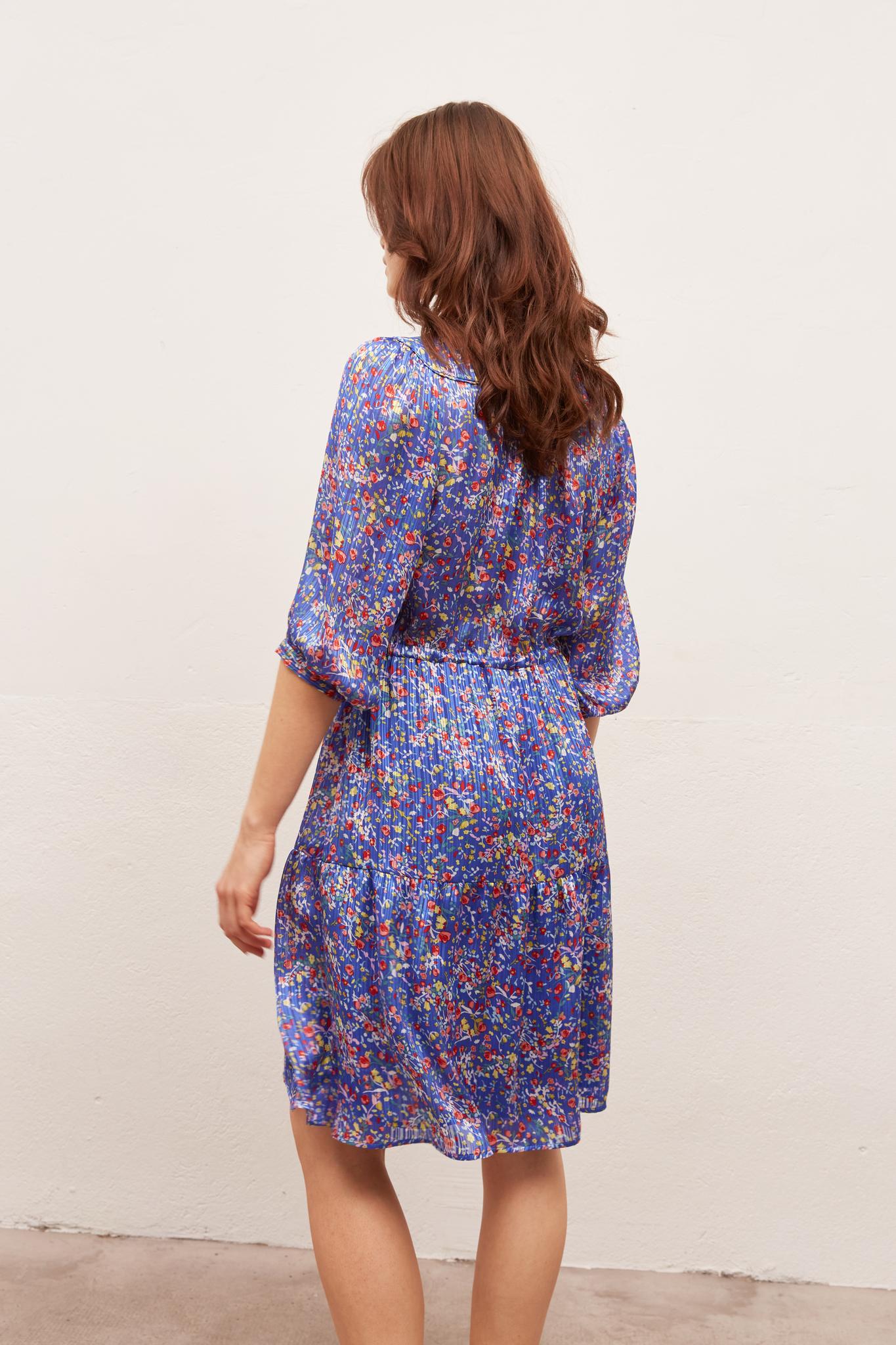 SUN - Платье-рубашка на кулиске и с принтом
