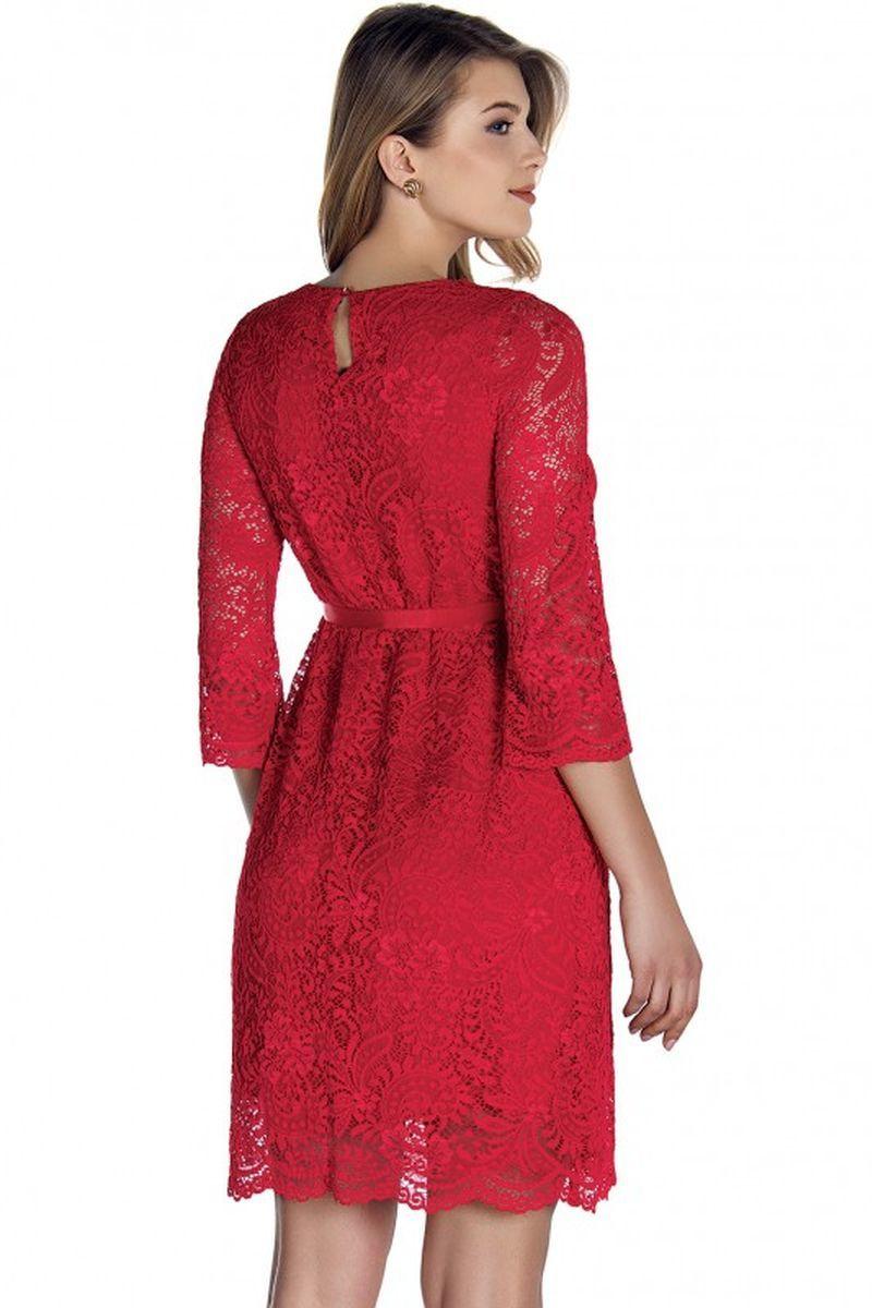 Фото платье для беременных EBRU, вечернее от магазина СкороМама, красный, размеры.