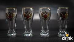 Подарочный набор из 4 стопок для водки «Герб», 60 мл, фото 2