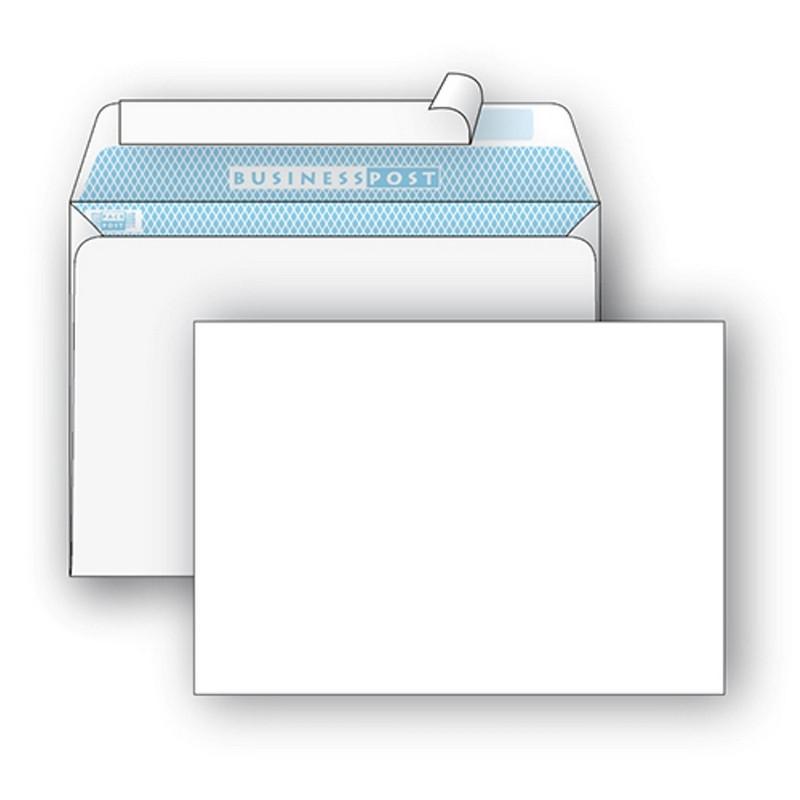 Конверт BusinessPost C4 100 г/кв.м белый стрип с внутренней запечаткой (250 штук в упаковке)