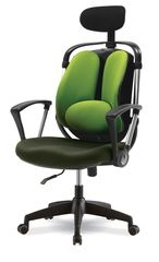 Компьютерный стул с поддержкой поясницы и подголовником Smart 77871M
