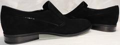 Классические лоферы туфли черного цвета мужские Ikoc 3410-7 Black Suede.