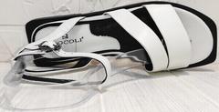 Красивые женские сандалии босоножки натуральная кожа Brocoli H1886-9165-S873 White.