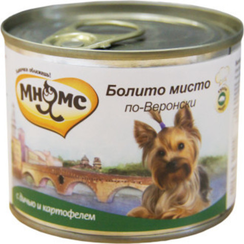 Мнямс консервы для собак Болито мисто по-Веронски (дичь с картофелем)