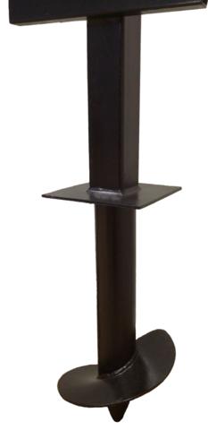 Столб 3,5 метра для забора комбинированный 57/50х50