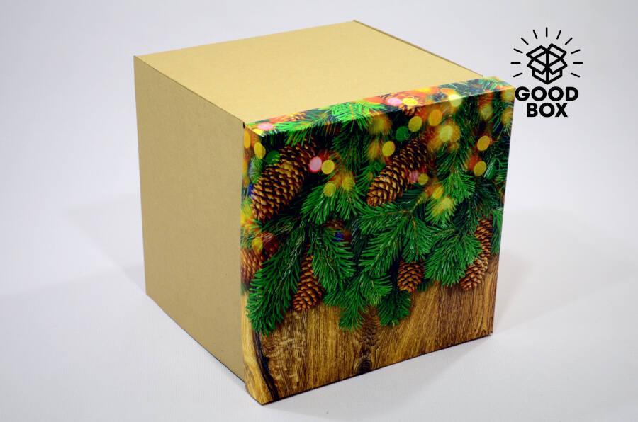 Уникальная и большая новогодняя коробка купить в Алматы