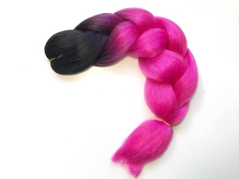 Канекалон B10 (омбре из чёрного в ярко-розовый)
