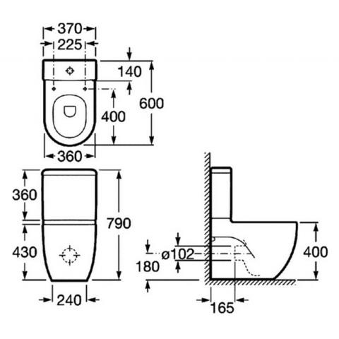 Унитаз напольный с бачком Roca MERIDIAN COMPACT с крышкой м/л