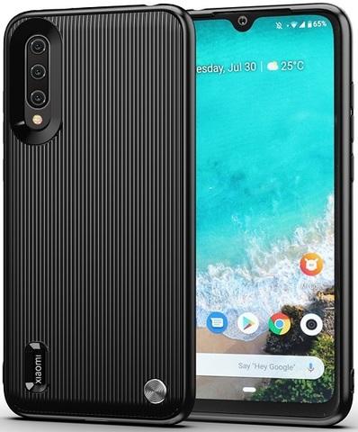 Чехол для Xiaomi Mi A3 (CC9E) цвет Black (черный), серия Bevel от Caseport